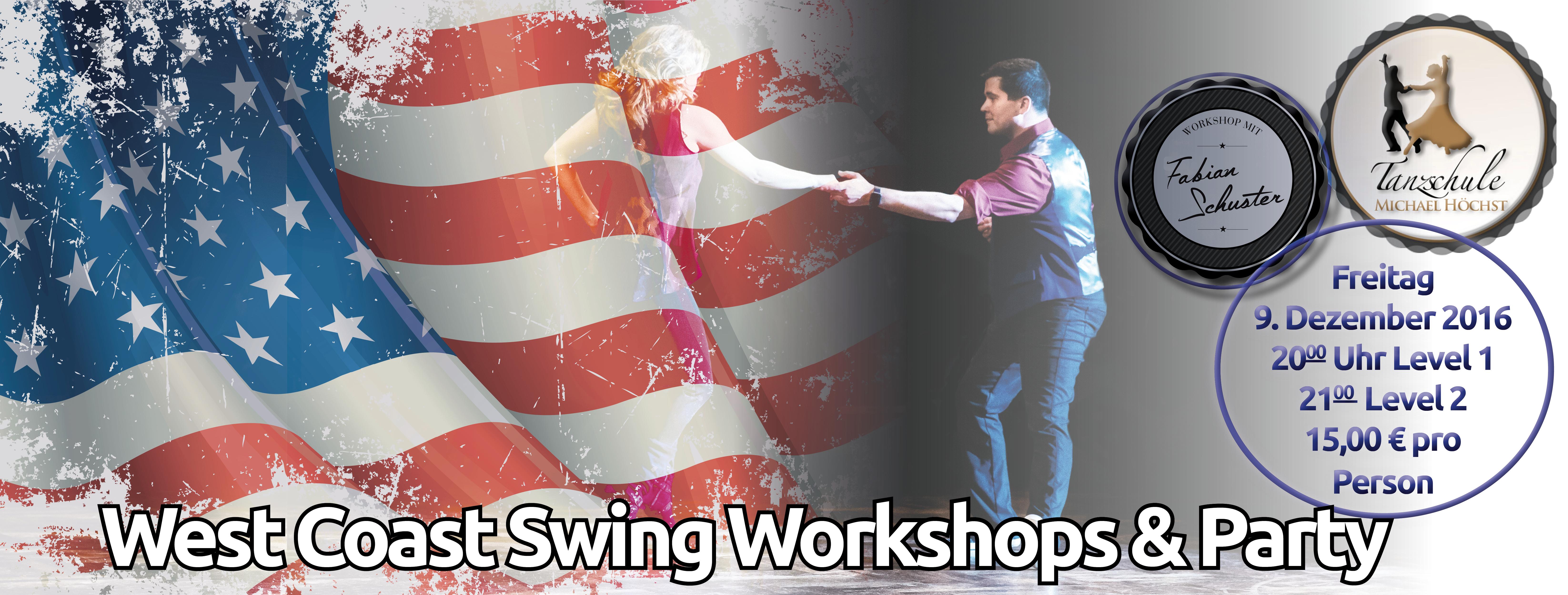 West Coast Swing Workshops mit Fabian Schuster und Party @ Tanzschule Michael Höchst   Gummersbach   Nordrhein-Westfalen   Deutschland